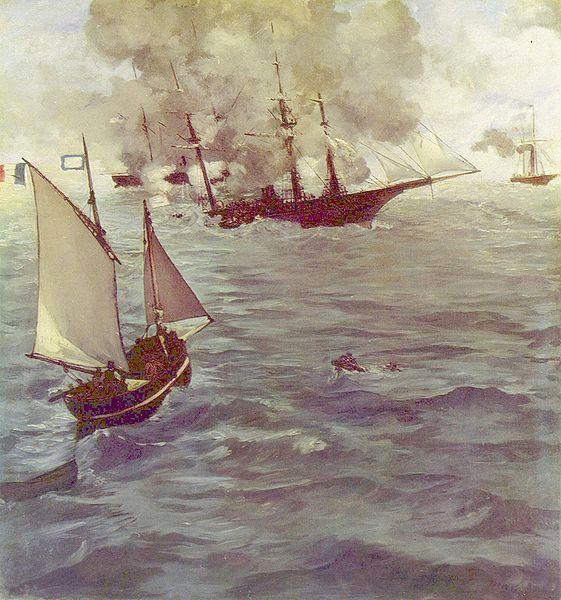 Édouard Manet – The Battle of the Kearsarge and Alabama