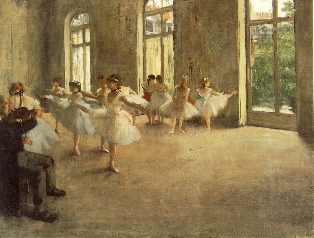 Edgar Degas: Ballet dancers rehearsing 'The Rehearsal', 1873-78